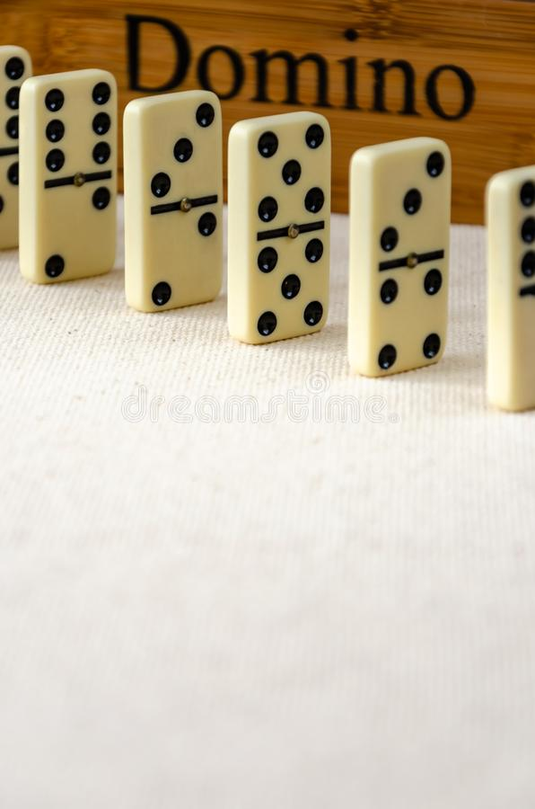 Dominoes on white background stock photography