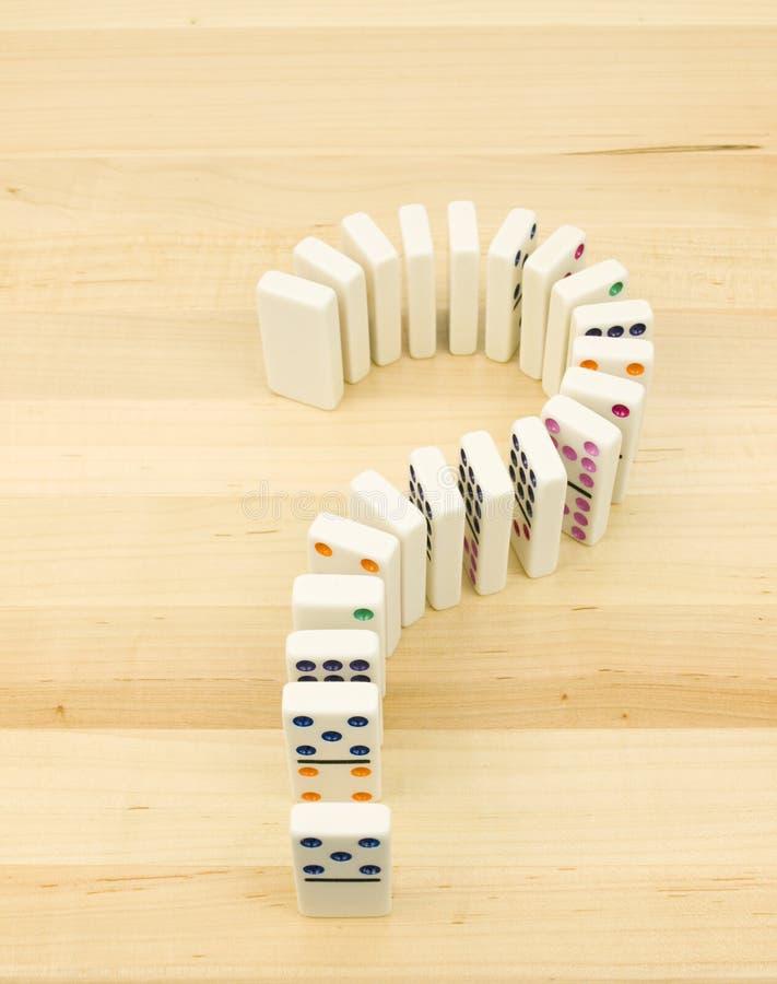 dominofläckfråga arkivfoto
