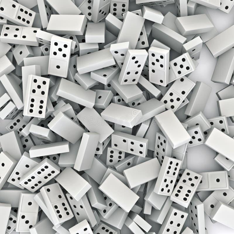Dominohintergrund stock abbildung
