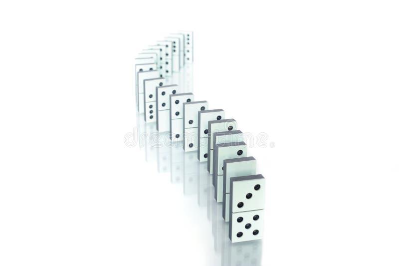 Dominokette lizenzfreie stockbilder
