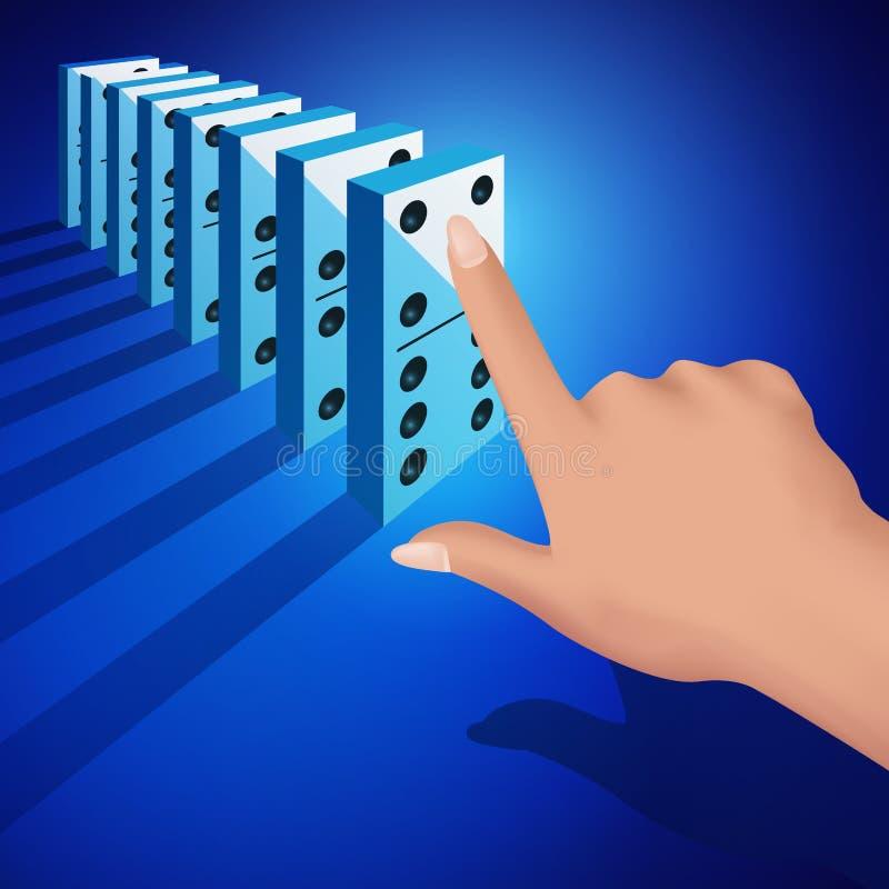 Dominokonzept stock abbildung