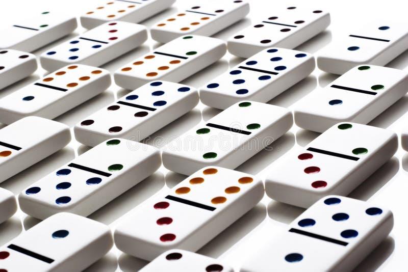 dominomodell stock illustrationer