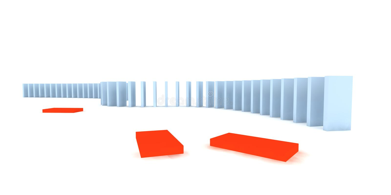 Dominos illustration de vecteur