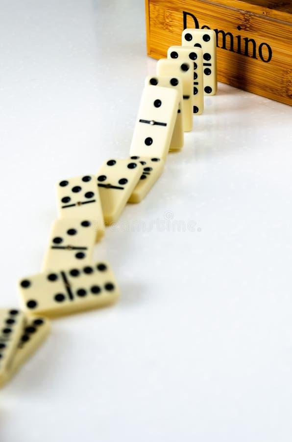 Dominos Stockbild Bild Von Reihe Fall Spielen Polka