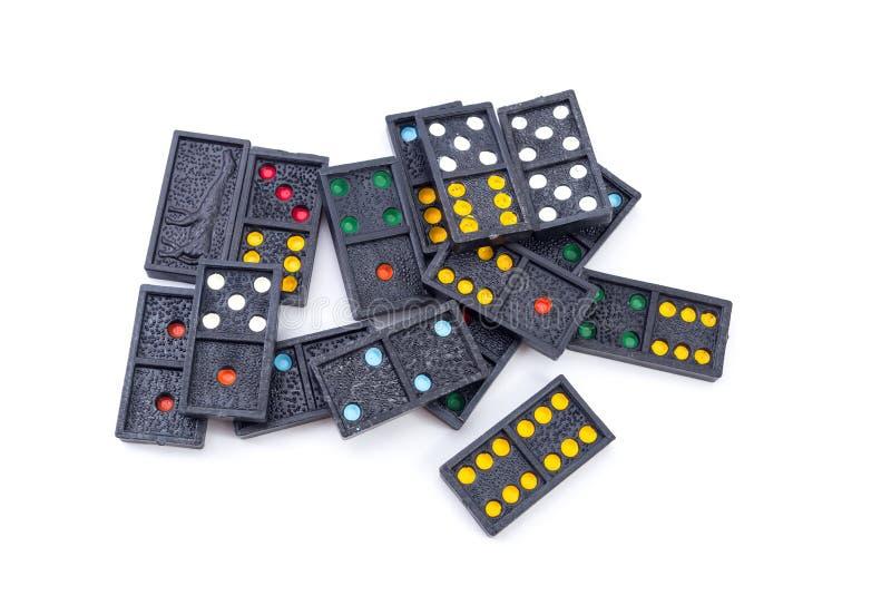 Download Dominos sur le fond blanc photo stock. Image du closeup - 45353102