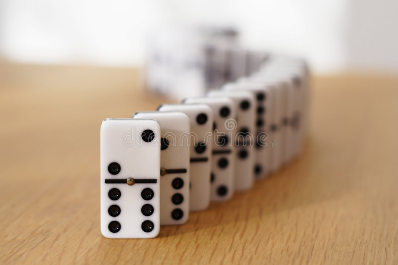Dominoschlange stockbild