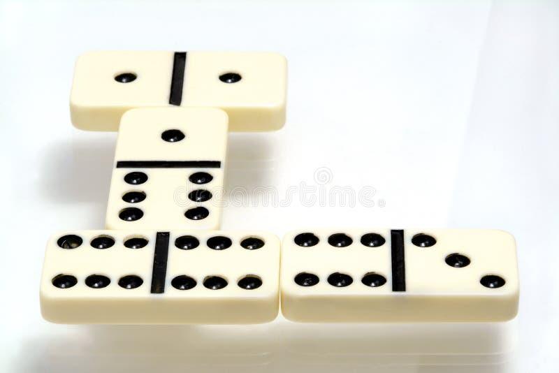 Dominospiel stockfotografie