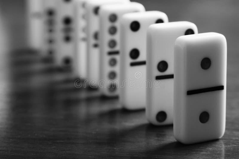 Dominospiel-Brett mit niemandem lizenzfreie stockbilder