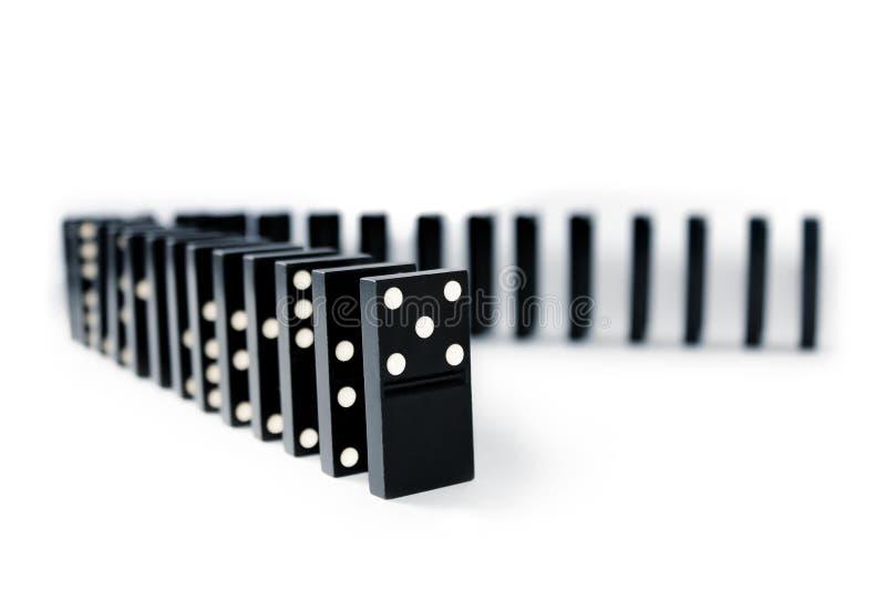 Dominozeilen lizenzfreies stockbild