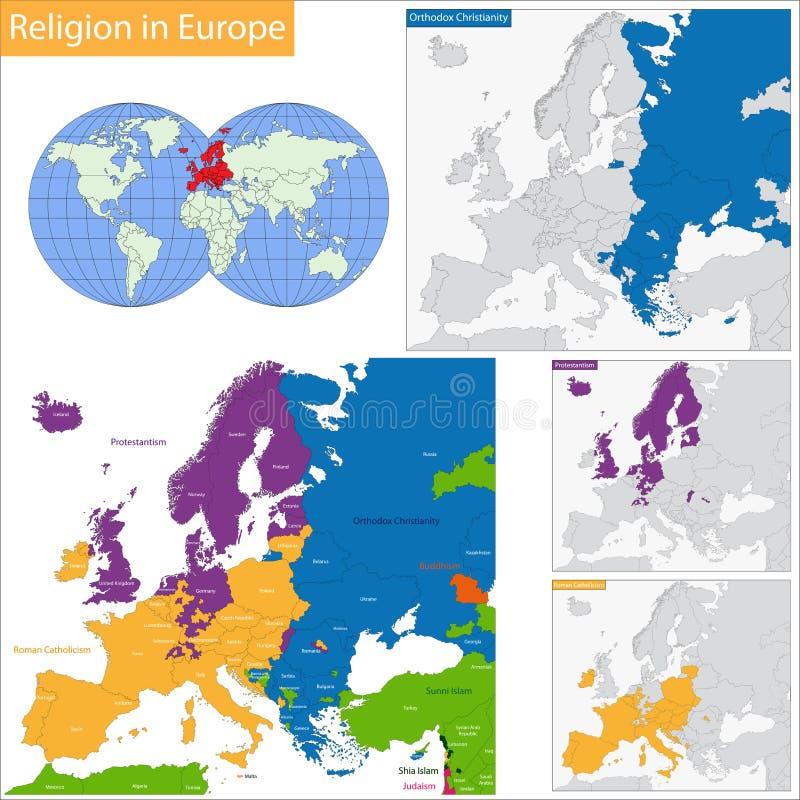 Dominujący religijny w Europa ilustracja wektor