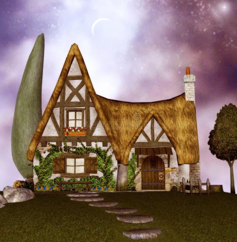 domki wróżka royalty ilustracja