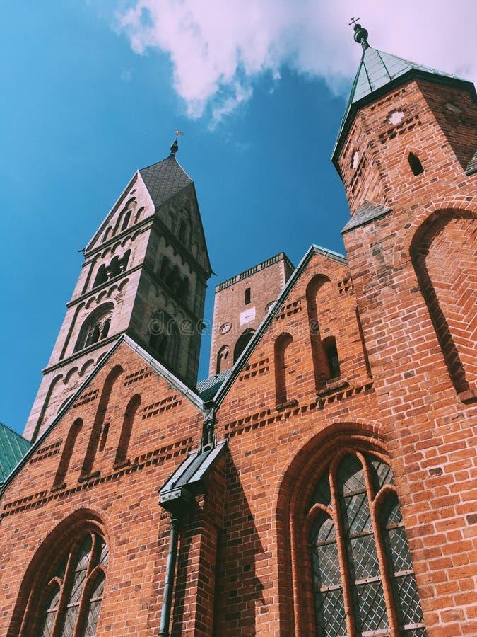 Domkirke em Ribe, fotografia de stock royalty free