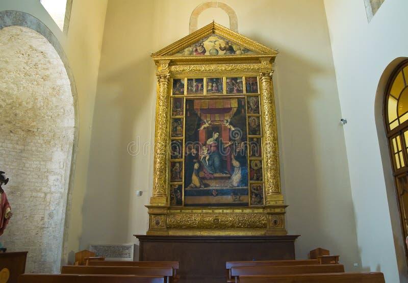 Domkyrka av Acerenza Basilicata italy arkivfoton