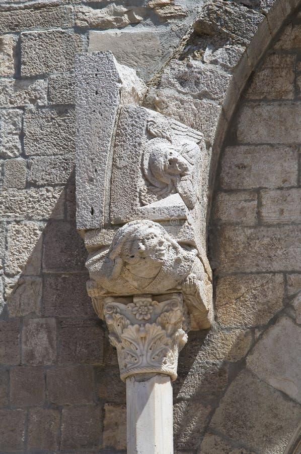 Domkyrka av Acerenza Basilicata italy arkivbilder