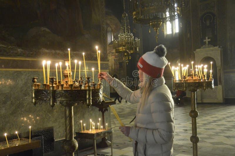 Domkyrka av Alexander Nevsky sofia lökformig royaltyfri foto