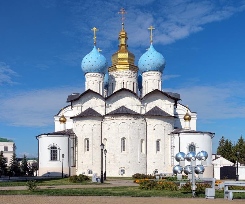 Domkyrka av annunciationen i Kazan Kremlin arkivfoton