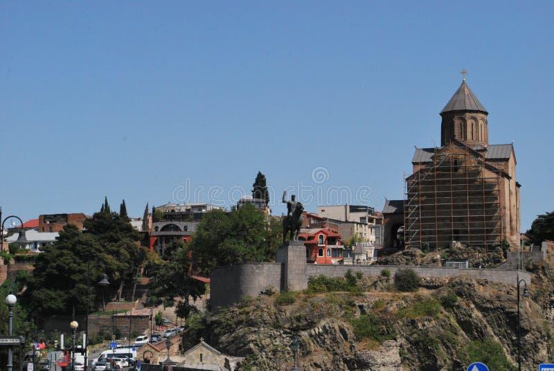 Domkyrka av antagandet av oskulden, Tbilisi fotografering för bildbyråer