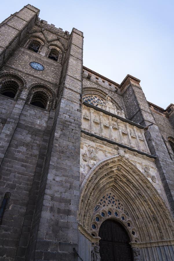Domkyrka av Avila, Avila, Castilla y Leon, Spanien arkivfoton