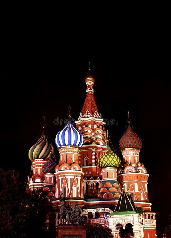 Domkyrka av Basil Blessed i Moskva på röd fyrkant arkivbild