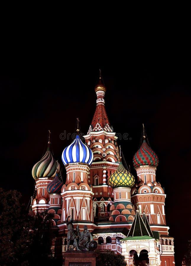 Domkyrka av Basil Blessed i Moskva på röd fyrkant arkivfoto