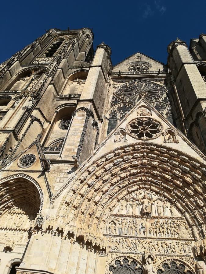 Domkyrka av Bourges, Frankrike arkivbild