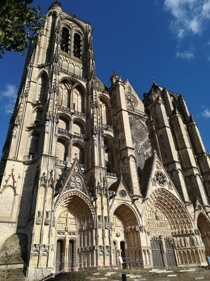 Domkyrka av Bourges, Frankrike arkivfoto