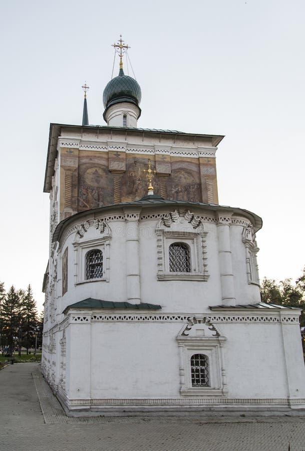 Domkyrka av christ frälsaren i Irkutsk, ryssfederation arkivbild