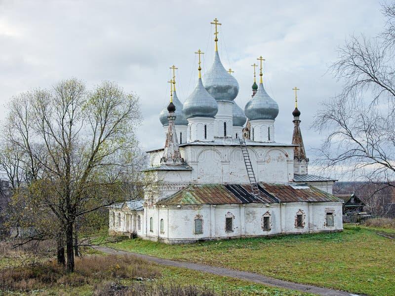 Domkyrka av den heliga arga exaltationen i Tutaev, Ryssland arkivbilder