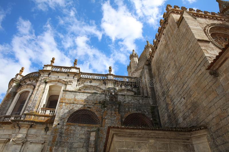 Domkyrka av Evora som kallas Se Alentejo portugal arkivbilder