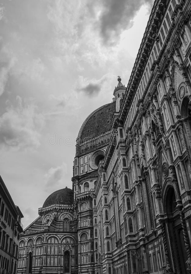 Domkyrka av Florence i Italien arkivbild
