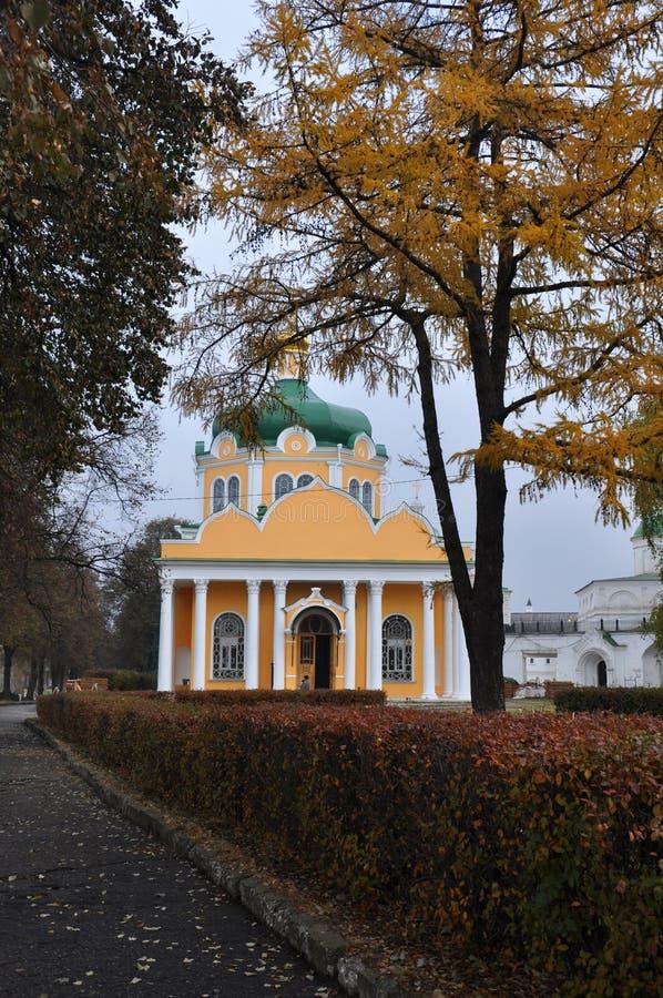 Domkyrka av Kristi födelsen av Kristus i Kreml i den Ryazan staden, Ryssland royaltyfria foton