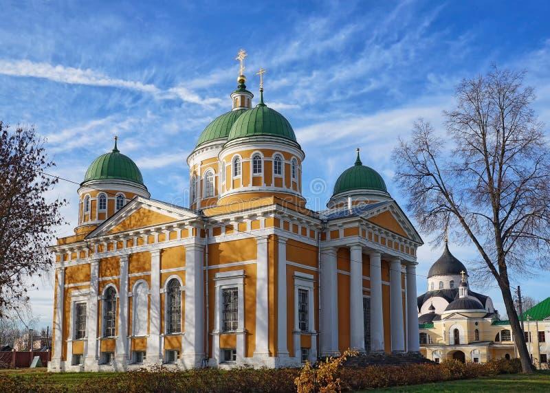 Domkyrka av Kristi födelsen i den Tver staden, Ryssland royaltyfria bilder