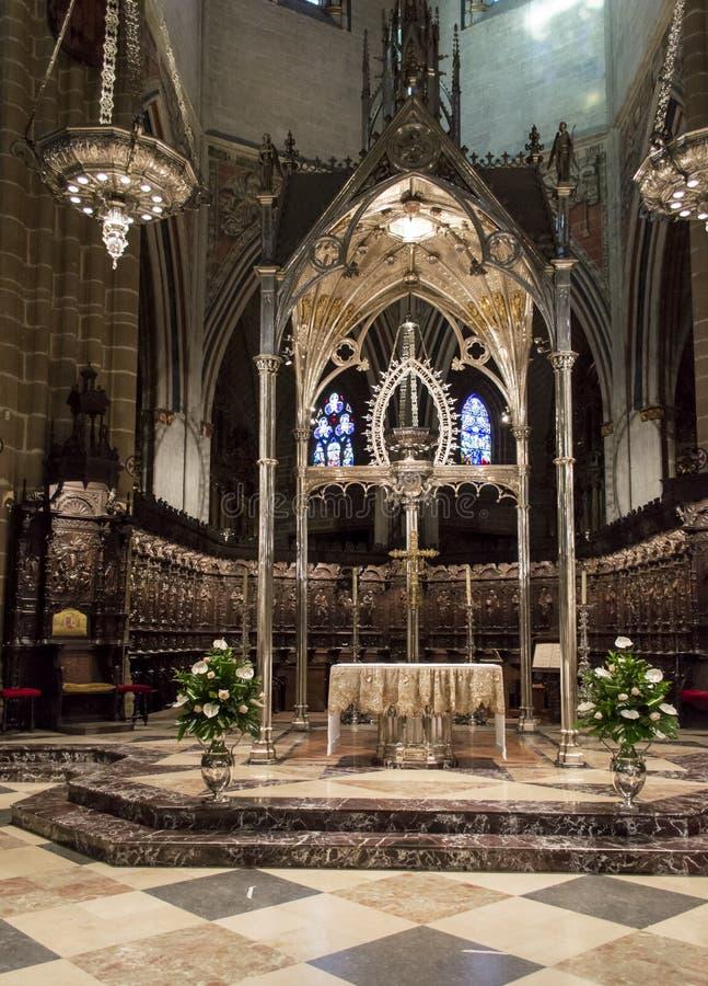 Domkyrka av kungliga Sanktt Mary i Pamplona royaltyfria foton