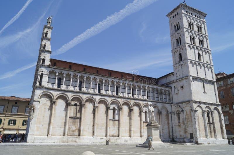 Domkyrka av Lucca, Tuscany royaltyfri bild