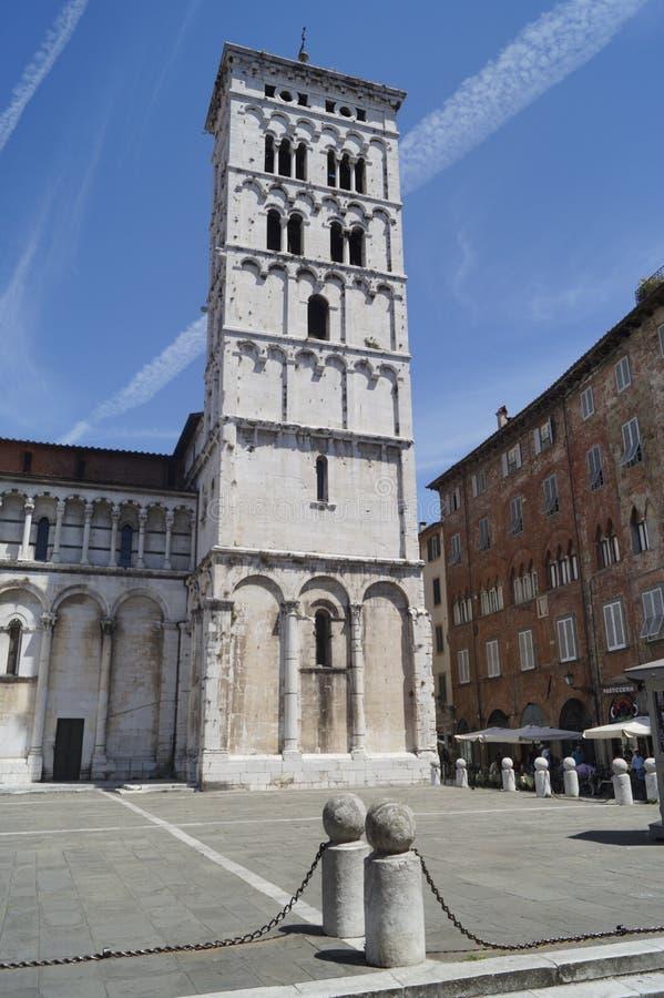 Domkyrka av Lucca, Tuscany arkivbild