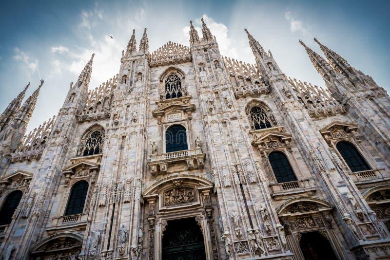 Domkyrka av Milan i Italien arkivbild