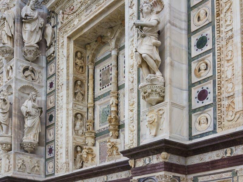 Domkyrka av Pavia, Italien fotografering för bildbyråer