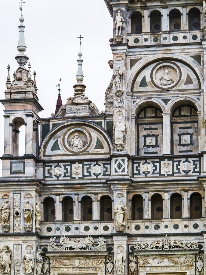 Domkyrka av Pavia, Italien arkivbild