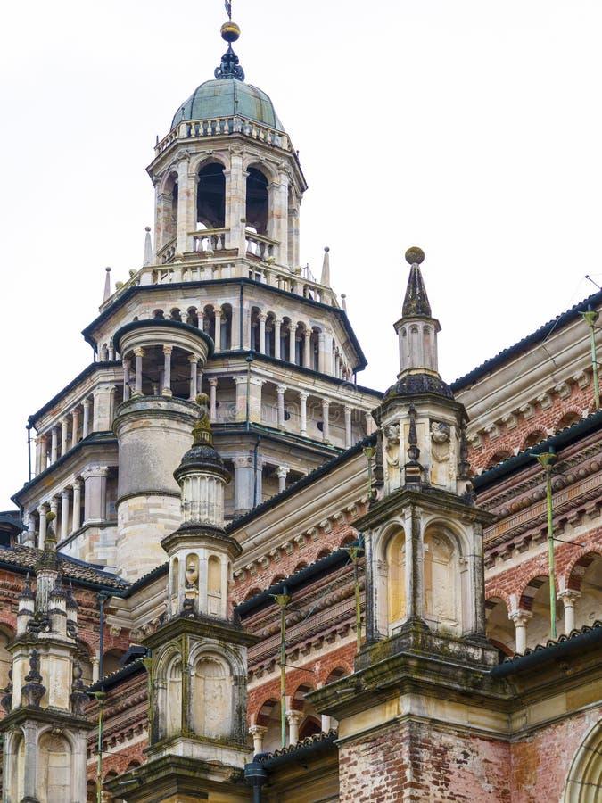 Domkyrka av Pavia, Italien royaltyfria bilder