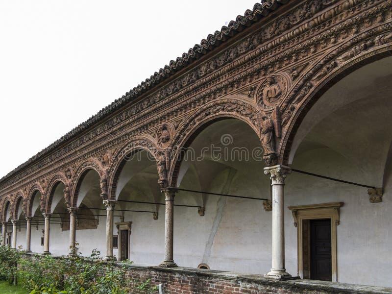 Domkyrka av Pavia, Italien arkivbilder