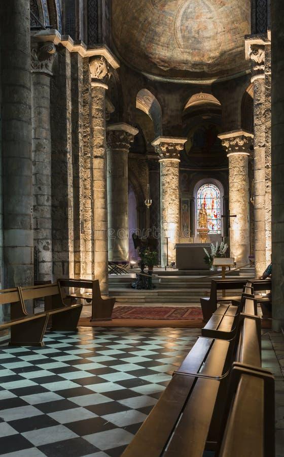 Domkyrka av Poitiers royaltyfria foton