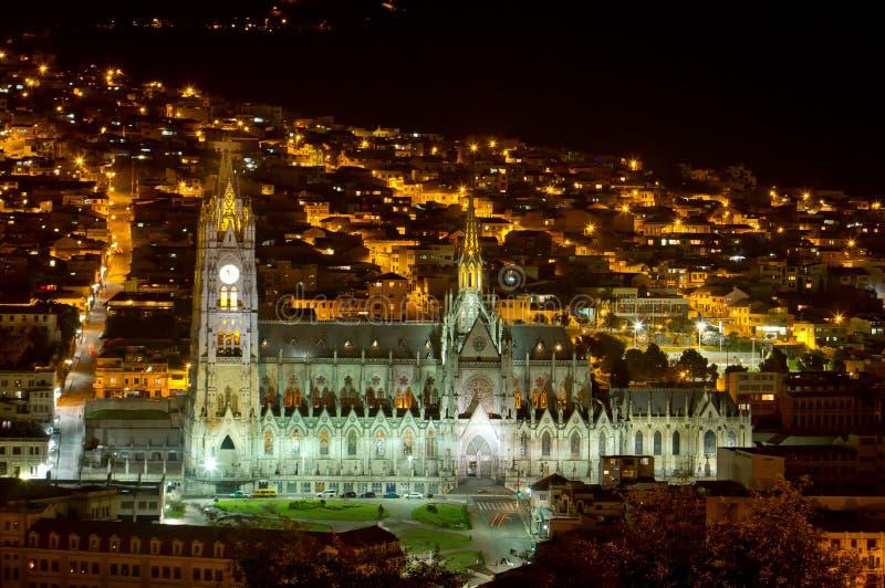 Domkyrka av Quito, Ecuador. royaltyfri bild