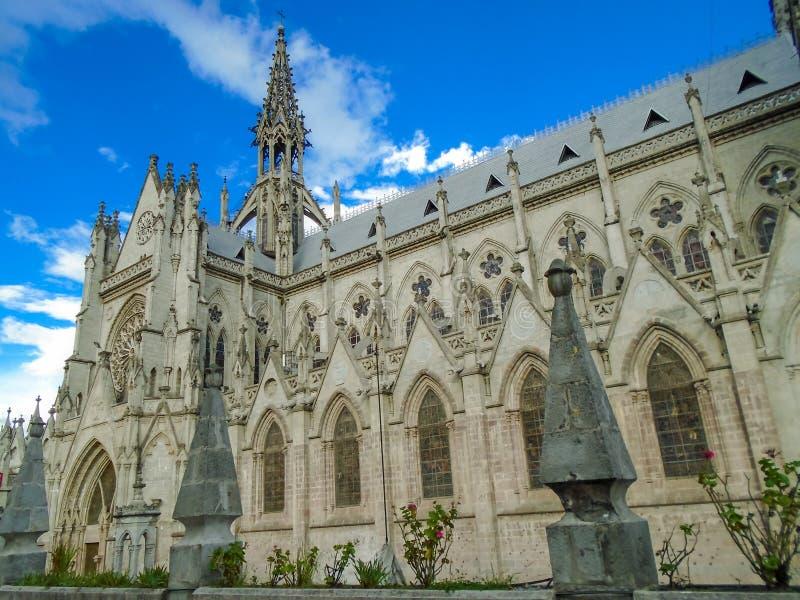Domkyrka av Quito, Ecuador arkivbild