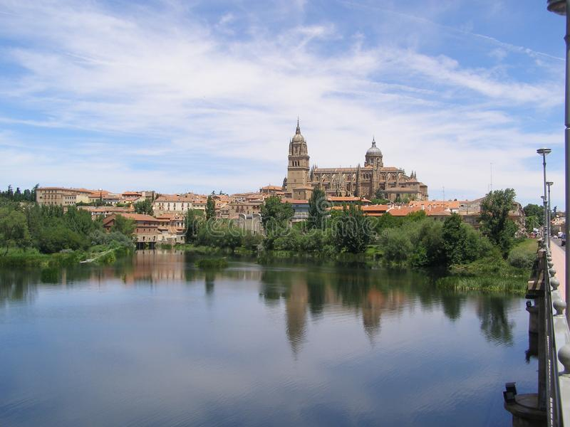Domkyrka av Salamanca, Salamanca Spanien royaltyfri bild