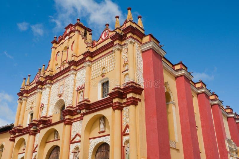 Domkyrka av San Cristobal de Las Casas, Chiapas, Mexico arkivbild