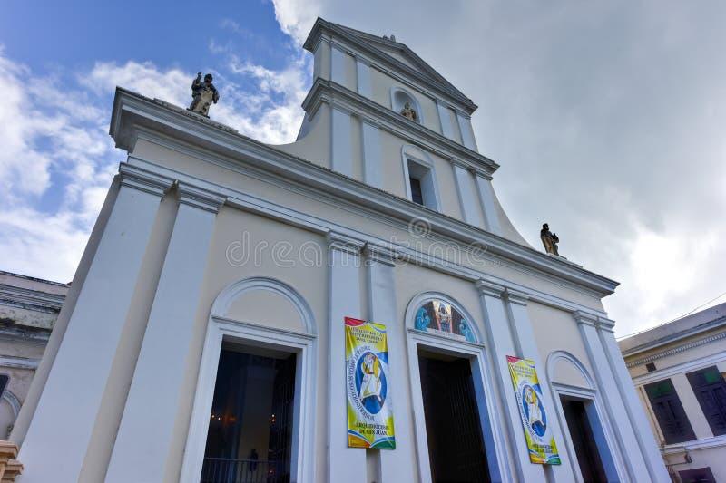 Domkyrka av San Juan Bautista - San Juan, Puerto Rico arkivbild