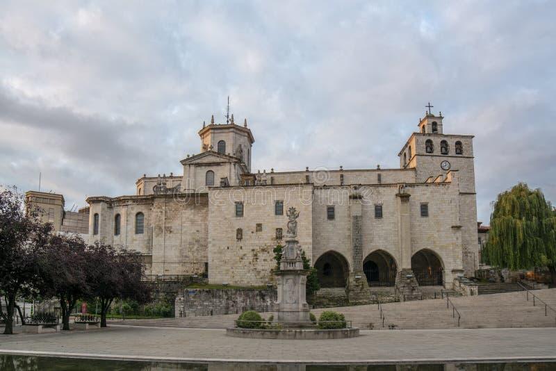 Domkyrka av Santander, Spanien royaltyfri fotografi