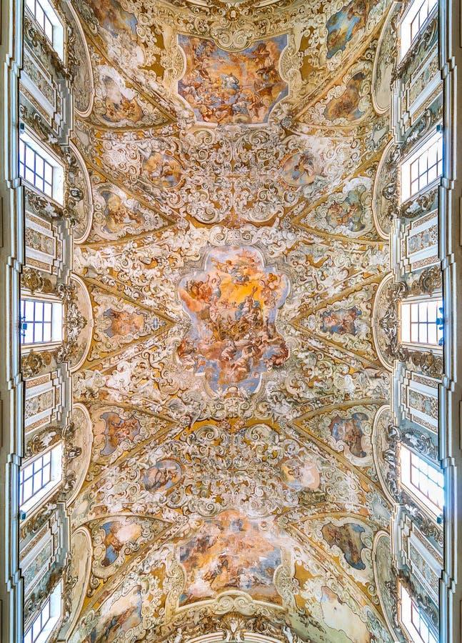 Domkyrka av Santissimoen Salvatore i Mazara del Vallo, stad i landskapet av Trapani, Sicilien, sydliga Italien royaltyfria foton