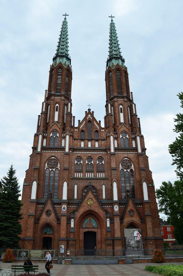 Domkyrka av St Michael ärkeängeln och Sten Florian martyren arkivfoton