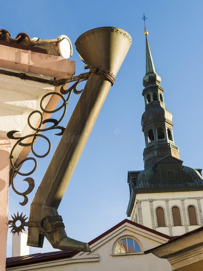 Domkyrka av St Nicholas i Tallinn, Estland arkivbilder